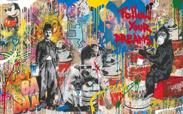 Mr. Brainwash, Mixed Wall, 2018