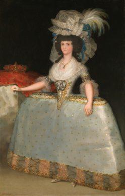 Francisco de Goya, La reina María Luisa con tontillo, hacia 1789. Museo Nacional del Prado, Madrid