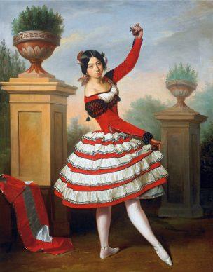 Antonio María Esquivel y Suárez de Urbina, La bailadora Josefa Vargas, 1850. Colección Duque de Alba. Palacio de Las Dueñas, Sevilla