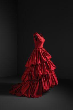 Evening gown, taffeta, Cristóbal Balenciaga Museoa, Getaria