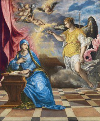 El Greco, Anunciación, hacia 1576. Museo Nacional Thyssen-Bornemisza, Madrid