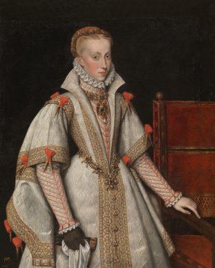 Bartolomé González (copia de Antonio Moro), La reina Ana de Austria, cuarta esposa de Felipe II, hacia 1616. Museo Nacional del Prado, Madrid