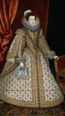 Rodrigo de Villandrando. Isabel de Borbón, esposa de Felipe IV, hacia 1620, Museo Nacional del Prado, Madrid