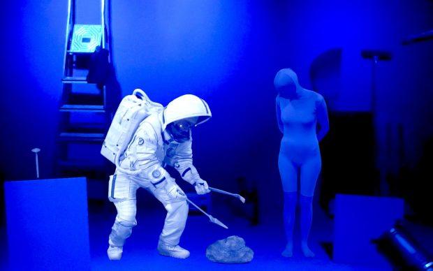 Pierrick sur la Lune, 2018, holographic scene © Pierrick Sorin