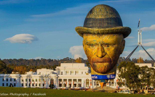 Ritratto mongolfiera Van Gogh, photo by Adrian Kelson via Facebook / Goldrush Ballooning Fanpage