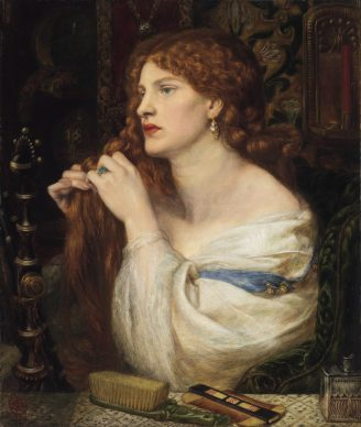 Dante Gabriel Rossetti, Aurelia (L'amante di Fazio), 1863-73. Tate: Purchased with assistance from Sir Arthur Du Cros Bt and Sir Otto Beit KCMG through the Art Fund, 1916 © Tate, London 2019