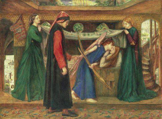 Dante Gabriel Rossetti, Il sogno di Dante alla morte di Beatrice, 1856. Tate: Bequeathed by Beresford Rimington Heaton,1940 © Tate, London 2019
