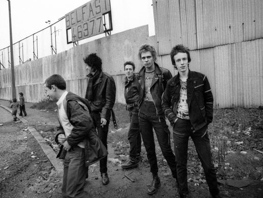 The Clash in Belfast - 1977. Photo Credit: © Adrian Boot