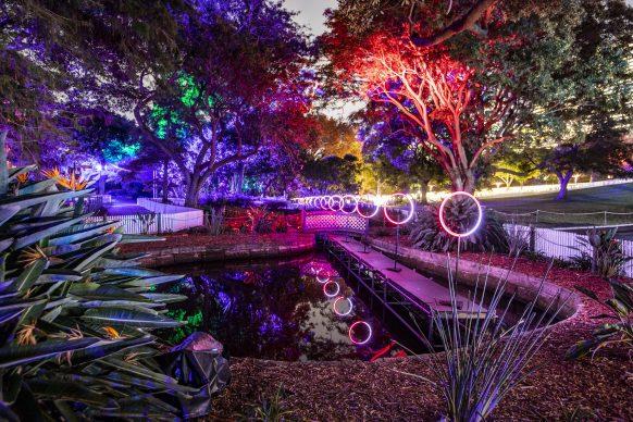 Vivid Sydney 2019, Royal Botanic Gardens, photograph Dallas Kilponen, photo credits: Destination NSW.