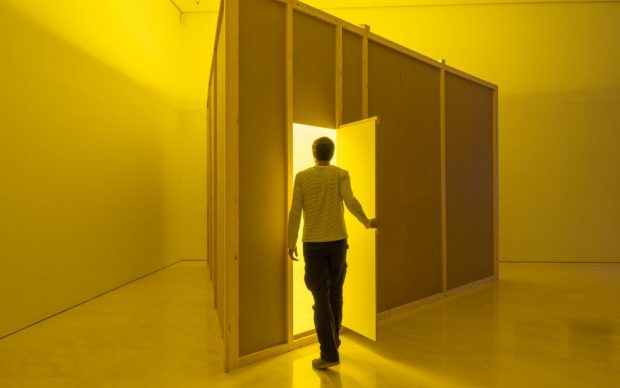 Yellow Room (Triangular), 1973, in Museo Picasso Málaga's exhibition