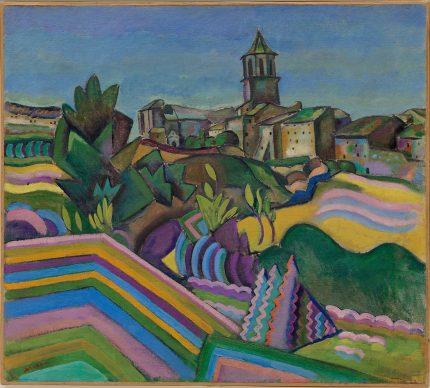Joan Miró, Prades, the Village (Prades, el poble), summer 1917, Oil on canvas, 65 x 72.6 cm Solomon R. Guggenheim Museum, New York 69.1894 © 2019 Successió Miró / Artists Rights Society (ARS), New York / ADAGP, Paris
