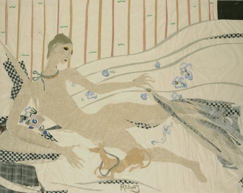 Hilla Rebay, The Dog (Le chien), n.d. Paper collage, 34.9 x 43.7 cm Solomon R. Guggenheim Museum, New York, Solomon R. Guggenheim Founding Collection, By gift 41.576 © 2019 The Hilla von Rebay Foundation