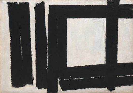 Franz Kline, Painting No. 7, 1952  Oil on canvas,  146 x 207.6 cm Solomon R. Guggenheim Museum, New York 54.1403 ©  2019 The Franz Kline Estate/Artists Rights Society (ARS), New York