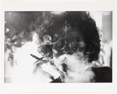 Adrian Piper, The Mythic Being: Smoke, 1974 Gelatin silver print, 20.3 x 25.4 cm Solomon R. Guggenheim Museum, New York, Purchased with funds contributed by the Photography Council and the International Director's Council 2017.38 © Adrian Piper
