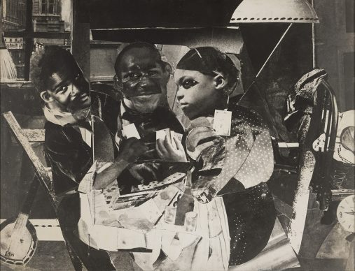 Romare Bearden, Evening 9:10, 461 Lenox Avenue, 1964 Gelatin silver print (photostat) on , 68.9 x 90.3 cm Edition 2/6 (full edition unrealized) Solomon R. Guggenheim Museum, New York, Purchased through prior gift of Julian J. Aberbach and Joachim J. Aberbach, Dr. and Mrs. Samuel S. Mandel, and Mr. and Mrs. Nathan L. Halpern, with additional funds contributed by the Photography Council 2017.76 © Romare Bearden Foundation. Courtesy of DC Moore Gallery, New York