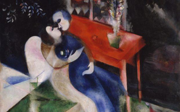marc chagall gli amanti 1914