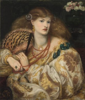 Dante Gabriel Rossetti, Monna Vanna, 1866, Tate: Purchased with assistance from Sir Arthur Du Cros Bt and Sir Otto Beit KCMG through the Art Fund, 1916 © Tate, London 2019