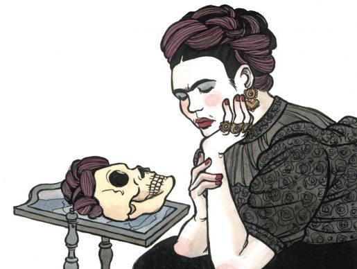 """Vanna Vinci, Illustrazione tratta dalla tavola 61 di """"Frida Kahlo. Operetta amorale"""" © Vanna Vinci © 24 ORE Cultura, Milano"""