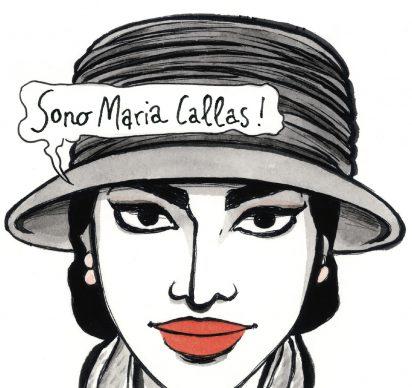 """Vanna Vinci, Illustrazione tratta dalla tavola 49 di """"Io sono Maria Callas"""" © Vanna Vinci: Feltrinelli Comics"""
