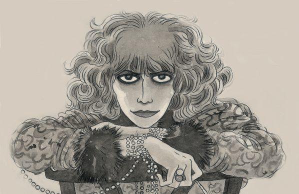 """Vanna Vinci, Illustrazione tratta dalla tavola 78 di  """"Casati. La musa egoista"""" © Vanna Vinci: Rizzoli Lizard"""