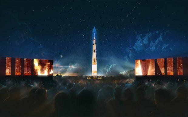 Apollo 50 Go to the Moon Washington Monument