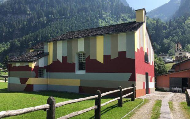 David Tremlett a Rossa, Grigioni, Svizzera