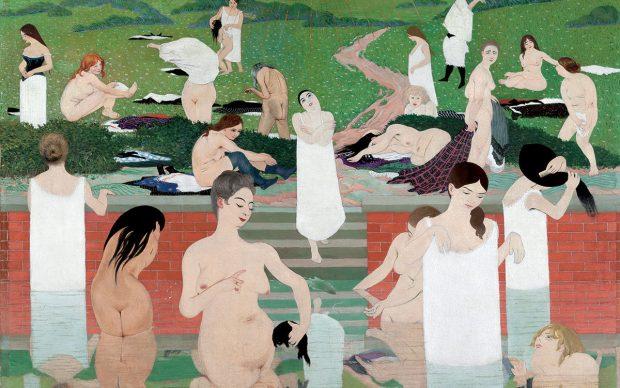 Félix Vallotton, Bathing on a Summer Evening (Le Bain au soir d'été) (detail), 1892-93. Oil on canvas. 97 x 131 cm. Kunsthaus Zürich. Gottfried Keller Foundation, Federal Office of Culture, Bern. Acquired 1965. © Kunsthaus Zürich.