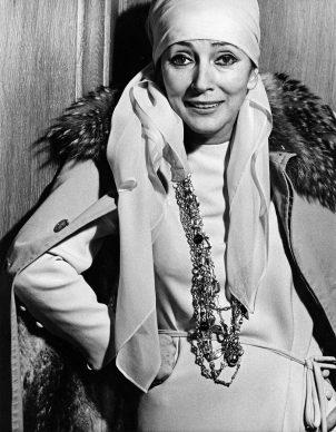Un ritratto di Valentina Cortese del 1974. (Photo by Jack Mitchell/Getty Images)