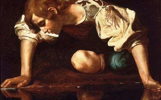 Michelangelo Merisi detto Caravaggio, Narciso, 1597-99, Palazzo Barberini Roma