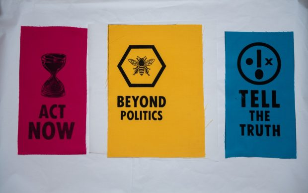New Extinction Rebellion acquisitions go on display at the V&A. Photo by Chris J RatcliffeGetty Images for The V&A (2)