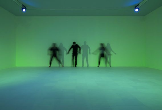 Daan Roosegaarde, Presence, exhibition view, Groninger Museum, photo by Peter Tahl, courtesy of Roosegaarde Studio