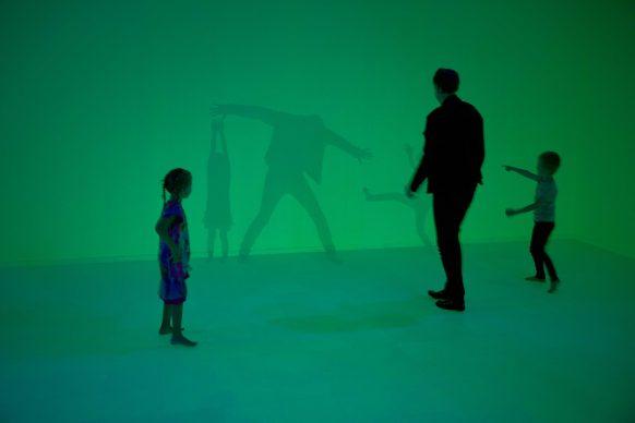 Daan Roosegaarde, Presence, exhibition view, Groninger Museum, photo by Pim Hendriksen, courtesy of Roosegaarde Studio