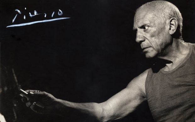 Pablo Picasso fotografia Palazzo Merulana Roma