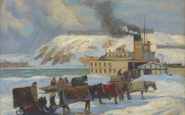 Robert Pilot, Waiting for the Ferry, 1927. Private Collection, Toronto. Uberscan by Colourgenics
