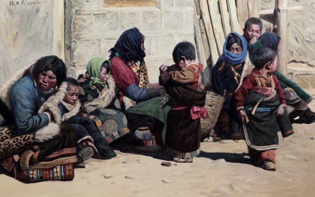Han Yuchen, Sotto-il-sole,olio-su-tela,-150x230cm,-2015