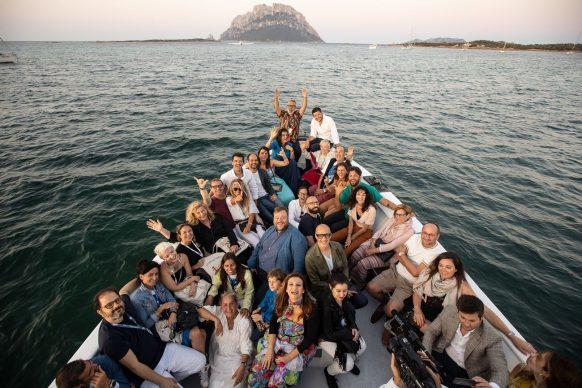 Foto di gruppo per il Festival di Tavolara 2019