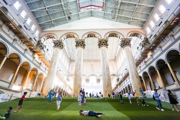 Lawn at the National Building Museum, photo by Jon Fleming Photography - www.jonflemingphoto.com