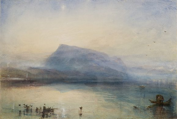Joseph Mallord William Turner, The Blue Rigi, Sunrise, 1842, Aquarell auf Papier, 29.7 x 45 cm © Tate, London, 2019