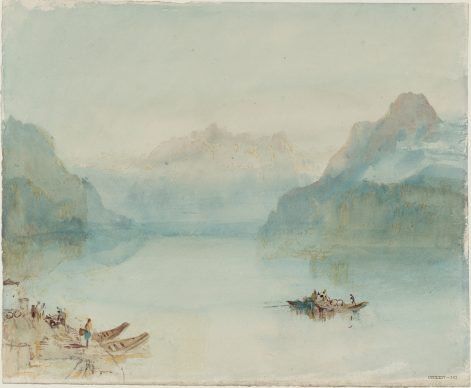 Joseph Mallord William Turner, Lake Lucerne: The Bay of Uri, from Brunnen, ca.1841/42, Aquarell auf Papier, 24.4 x 29.9 cm © Tate, London, 2019