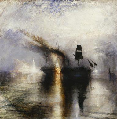 Joseph Mallord William Turner, Peace – Burial at Sea, ca. 1842, Öl auf Leinwand, 111 x 110.8 cm © Tate, London, 2019