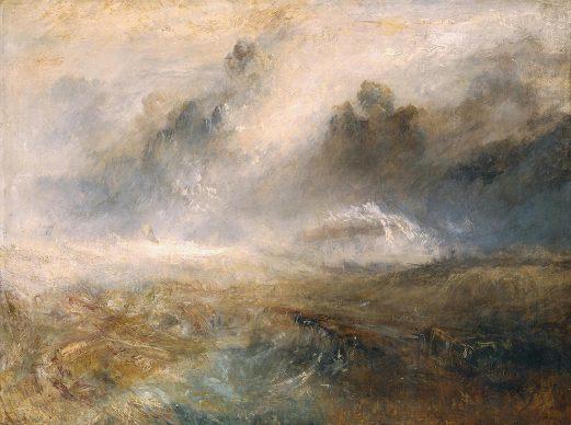 Joseph Mallord William Turner, Rough Sea with Wreckage, ca.1840/45, Öl auf Leinwand, 192.1 x 122.6 cm © Tate, London, 2019