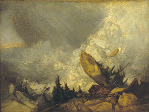 Joseph Mallord William Turner, The Fall of an Avalanche in the Grisons, ca. 1810, Öl auf Leinwand, 135 x 166 cm © Tate, London, 2019