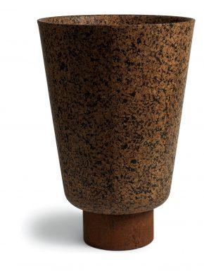 Pierluigi Piu, Suber, 2009,  cork and metal, h 50 x Ø 33 cm.. Realized by Greencorks & Infusion. Courtesy the artist and Greencorks & Infusion