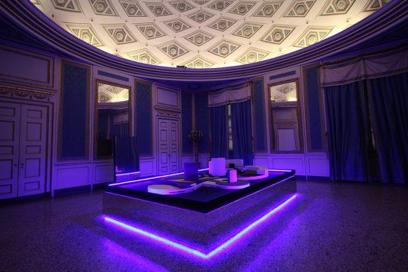 Nanda Vigo, Light Project, exhibition view at Palazzo Reale, Milano 2019, Arch/arcology, photo credit Marco Poma. Courtesy Archivio Nanda Vigo