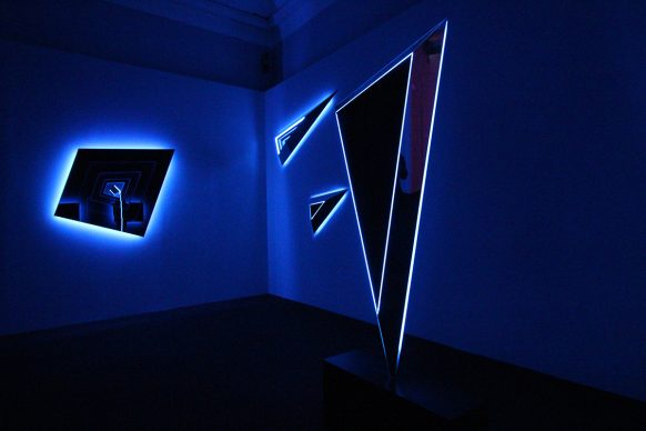 Nanda Vigo, Light Project, exhibition view at Palazzo Reale, Milano 2019, Deep space, photo credit Marco Poma. Courtesy Archivio Nanda Vigo