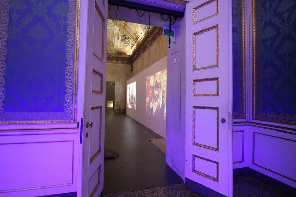 Nanda Vigo, Light Project, exhibition view at Palazzo Reale, Milano 2019, photo credit Marco Poma. Courtesy Archivio Nanda Vigo