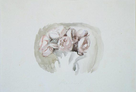 Giorgio Morandi, Vaso con fiori, 1946-48,  watercolor on paper, 21x28,5 cm, Galleria Nazionale d'Arte Moderna e Contemporanea, Roma