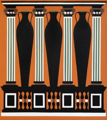 A. Iacurci, Scamilli Impares II, 200x180cm, acrilico su tela