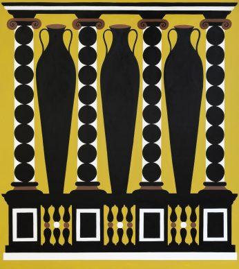 A. Iacurci, Scamilli Impares I, 200x180cm, acrilico su tela