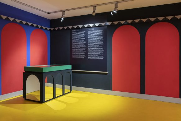 Vista dell'allestimento della mostra Agostino Iacurci. Tracing Vitruvi, Photo Lorenzo Palmieri